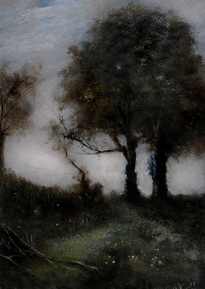 """Study of -Souvenir of Castel Gandalfo by Corot"" original fine art by Bob Kimball"