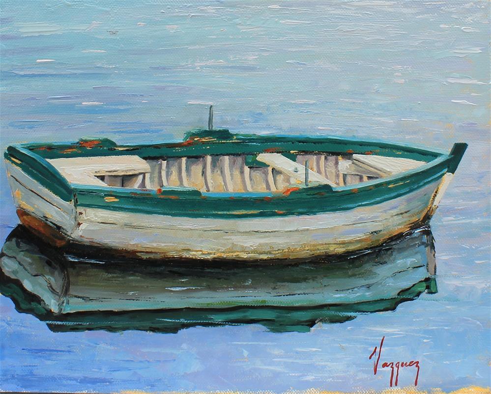 """""""Small boat"""" original fine art by Marco Vazquez"""