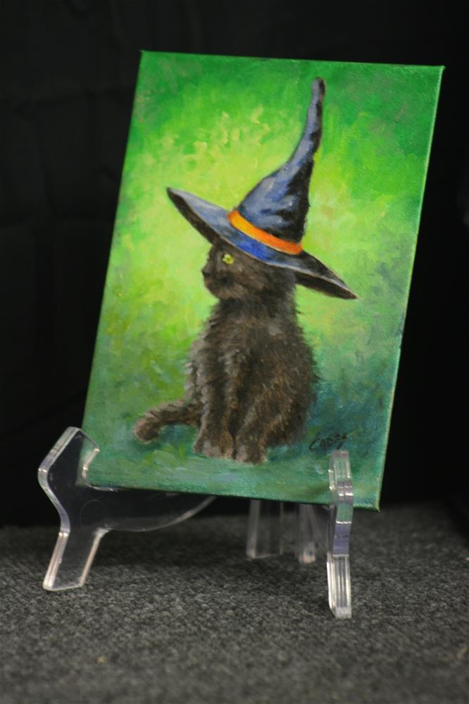 """Kitty Witch"" original fine art by Linda Eades Blackburn"