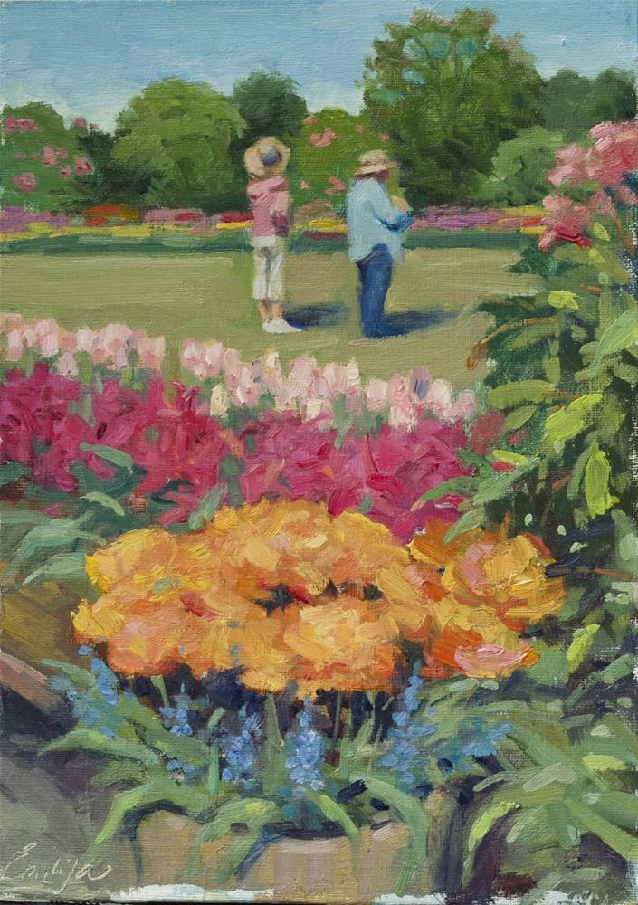 """Foreseeing a new garden projet "" original fine art by Emiliya Lane"