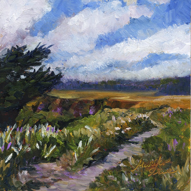 """Trail on the Headlands"" original fine art by Mariko Irie"