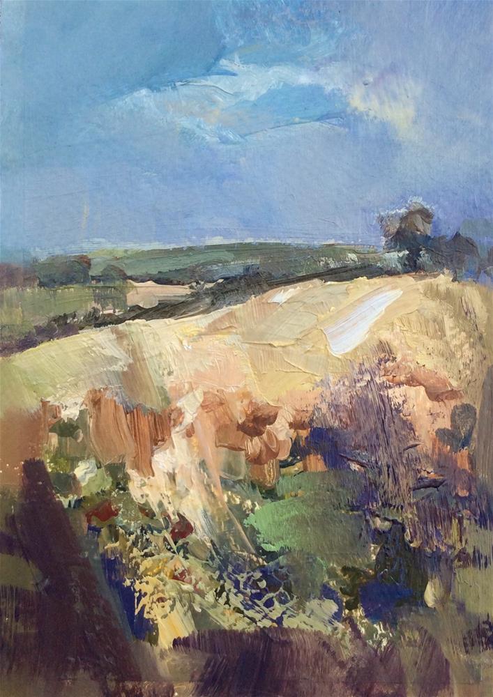 """Hillside"" original fine art by Anne Wood"