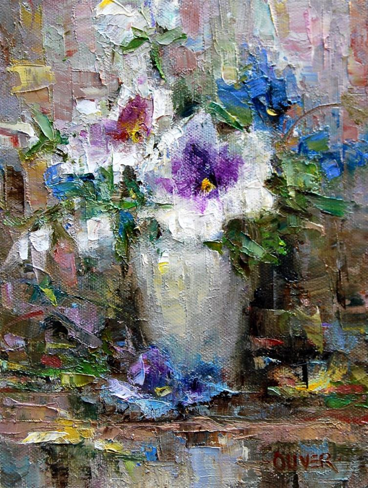 """Pansy Supreme"" original fine art by Julie Ford Oliver"