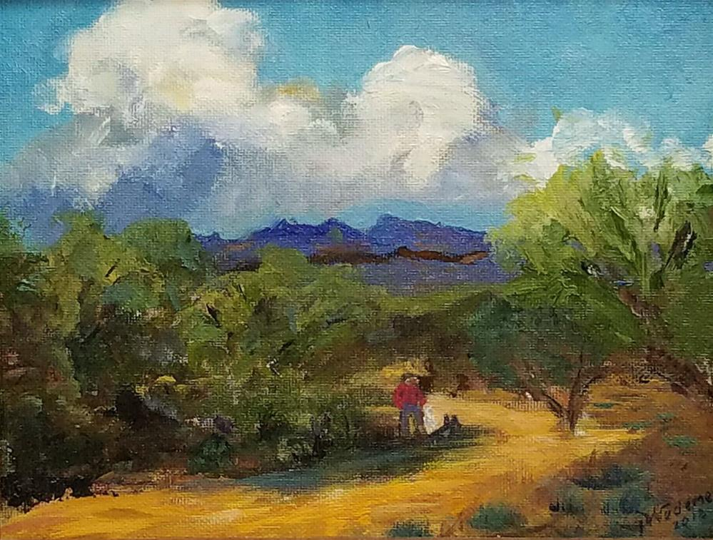 """The Long Walk"" original fine art by Pamela Wedemeyer"