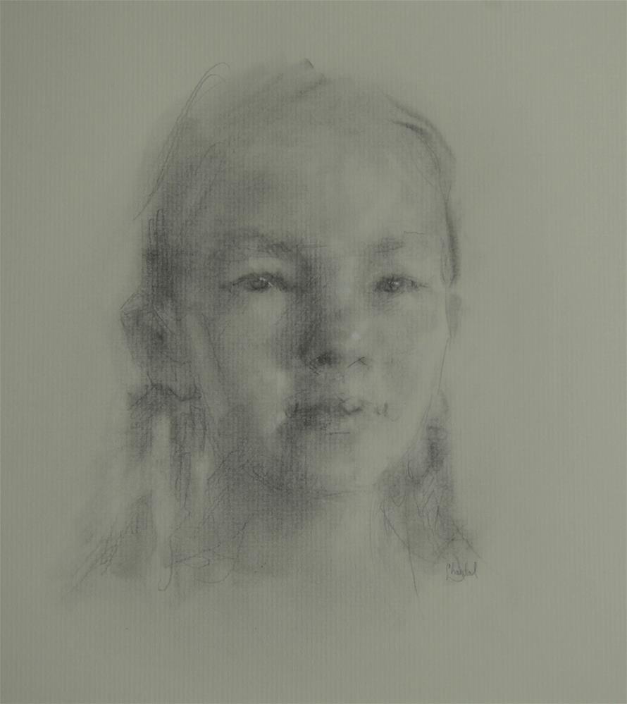"""""""A Girl"""" original fine art by Chantel Barber"""