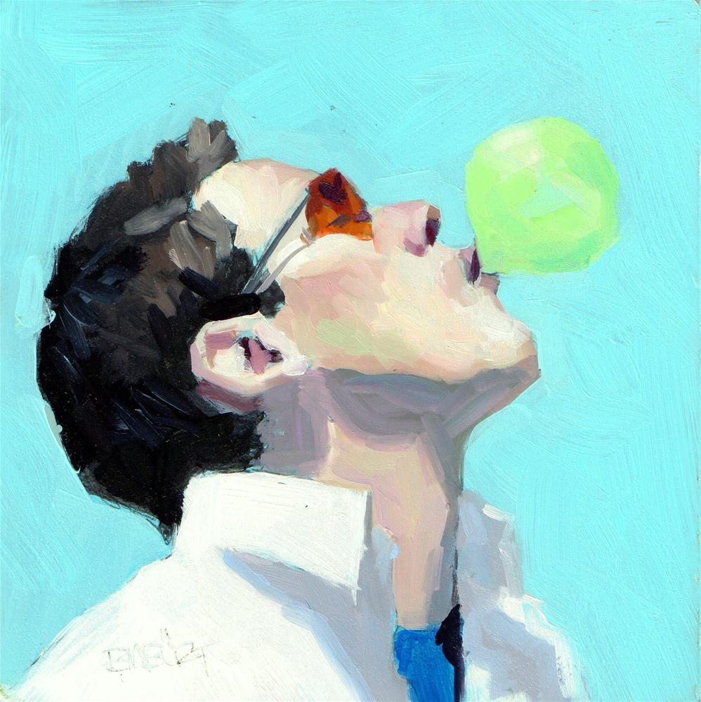 """DAILY DIAPER #253 Watermelon"" original fine art by Brian Burt"