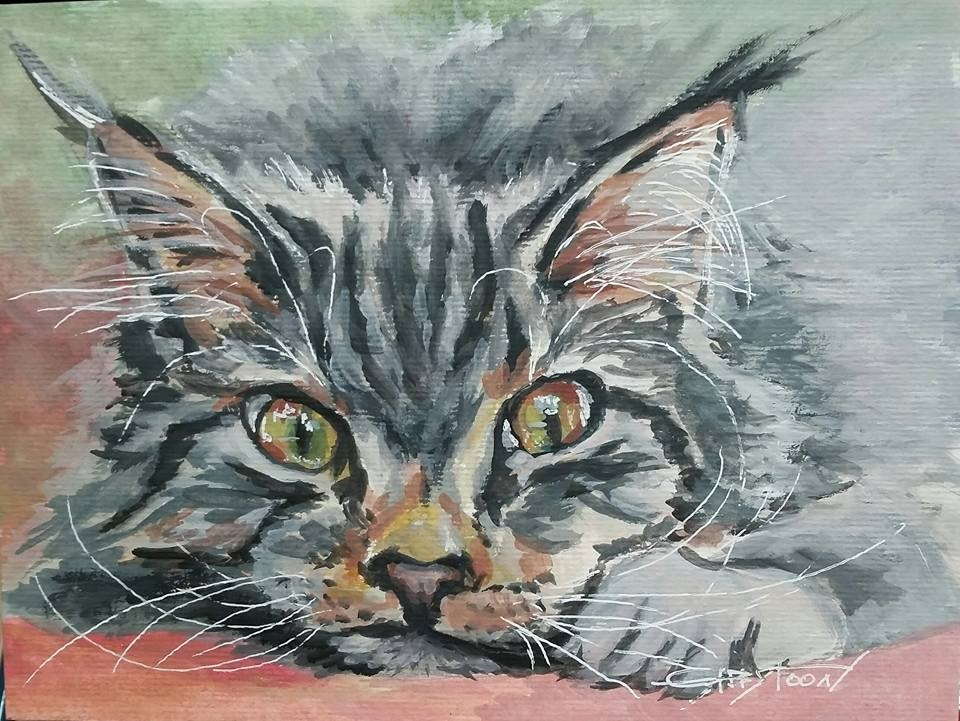 """Sweet Kitten"" original fine art by Gabriella DeLamater"