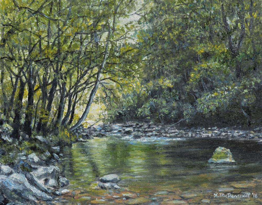 """Smokey Mountain Stream"" original fine art by Kathleen McDermott"