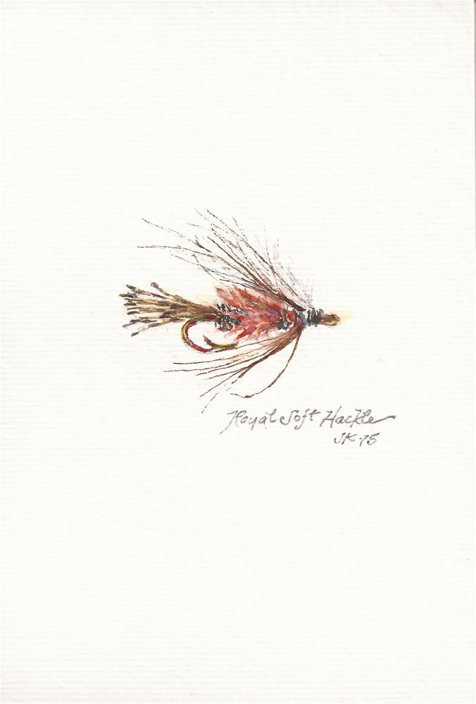 """Royal Soft Hackle"" original fine art by Jean Krueger"