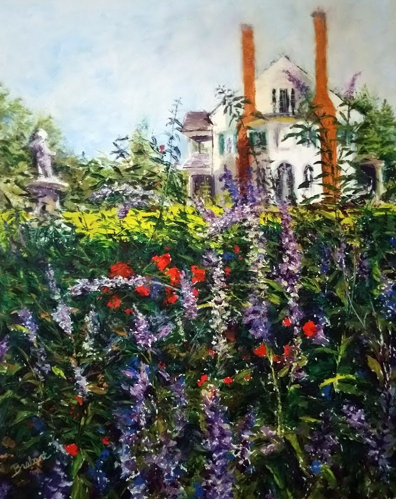 """Belmont, Through the Garden"" original fine art by Jill Brabant"