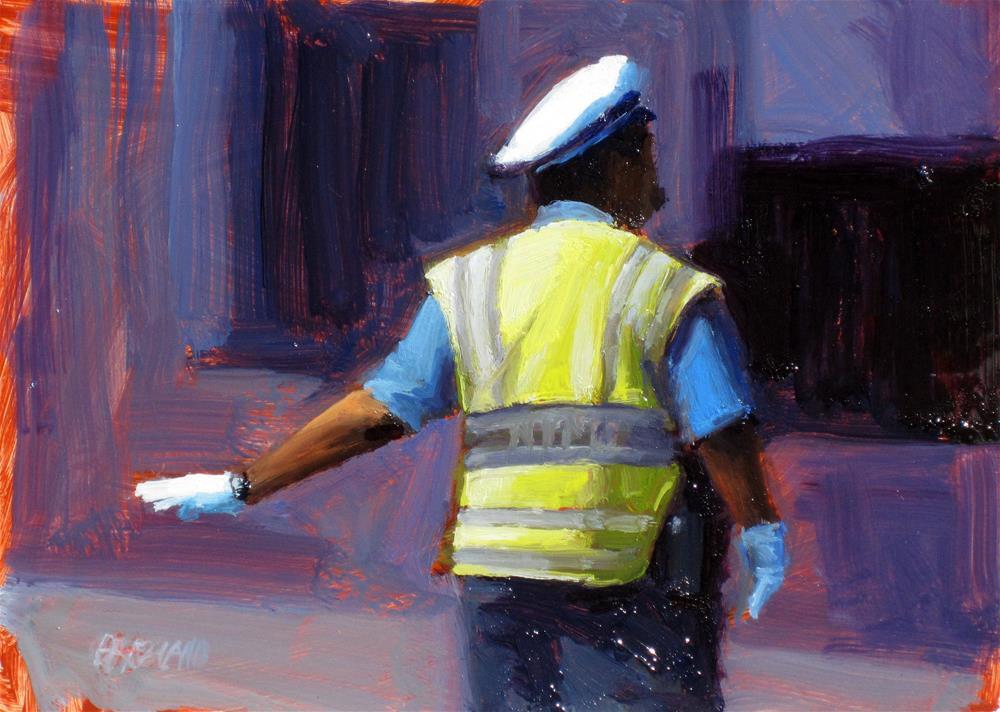 """""""traffic cop"""" original fine art by Dan Graziano"""