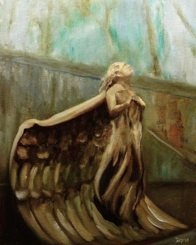 """The Second Angel DPW Statue Challenge Entry"" original fine art by Dalan Wells"