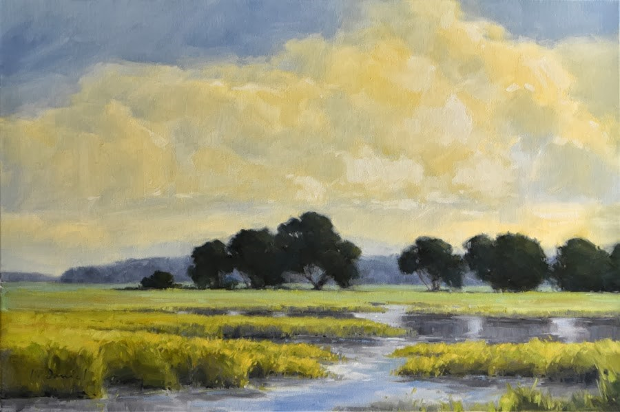 """Marsh Dance"" original fine art by Laurel Daniel"