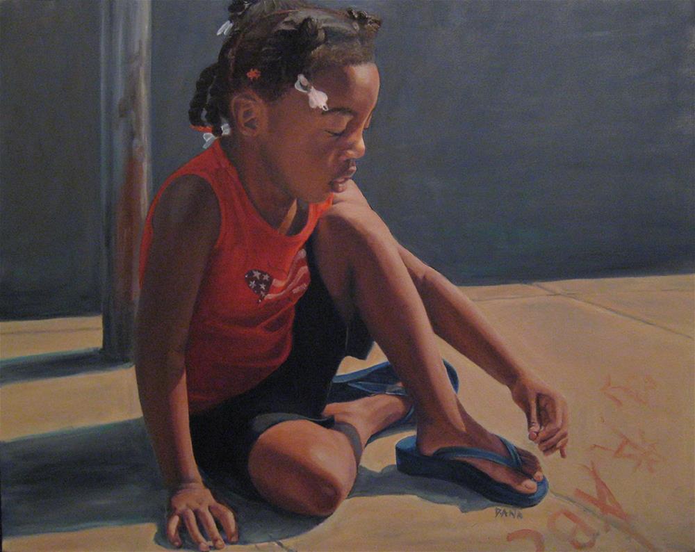 """Sidewalk Art"" original fine art by Dana Lombardo"