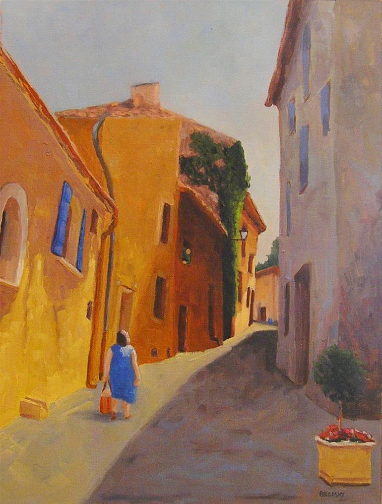 """Sunny Side of the Street"" original fine art by Nina Brodsky"