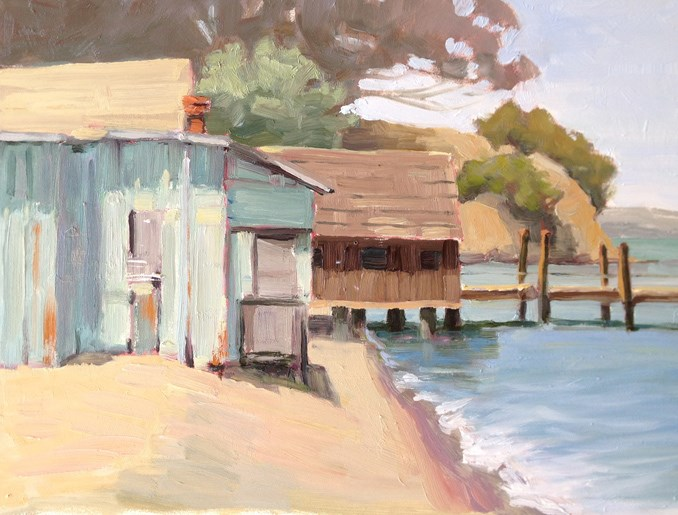 """China Camp"" original fine art by Deborah Newman"