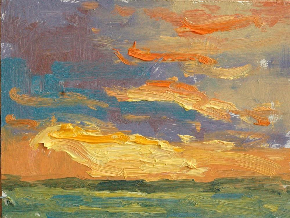 """Sunset Memory"" original fine art by Michael Clark"