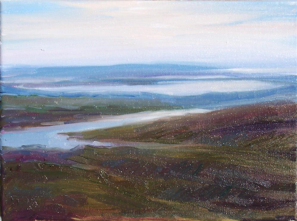 """View from Stewart Mountaint,landscape,oil on canvas,9x12,price$500"" original fine art by Joy Olney"