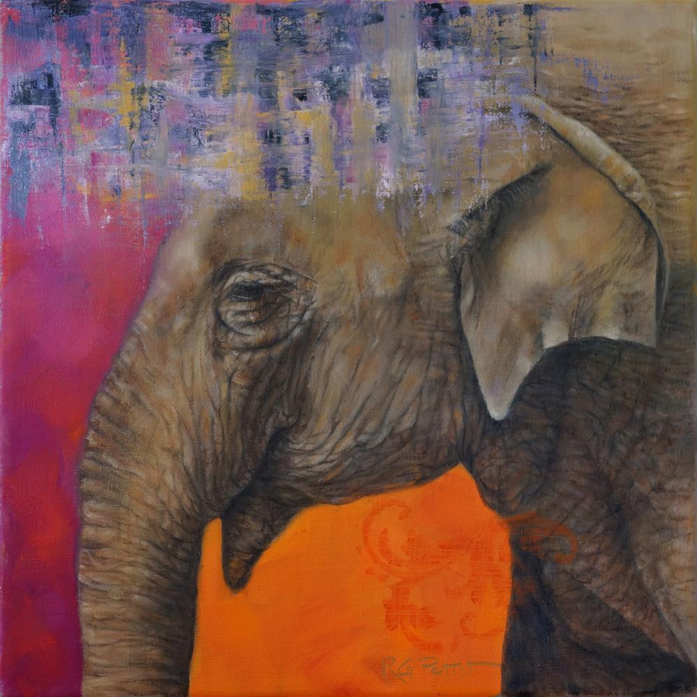 """Indian Elephant"" original fine art by Rhea  Groepper Pettit"