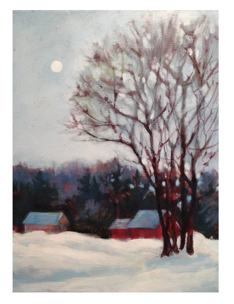 """Winter Twilight"" original fine art by Suzanne Woodward"