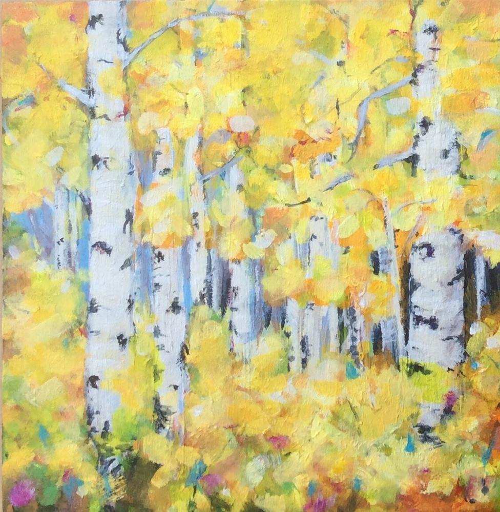"""Yellow Birch"" original fine art by wendy black"