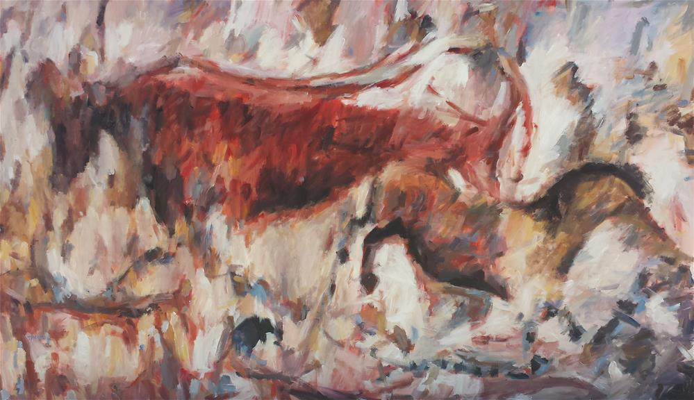 """Impressionism at Lascaux"" original fine art by Nava Judith"