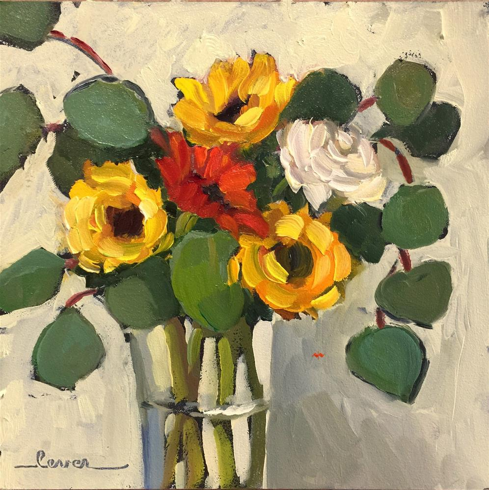 """Three Suns And Friends"" original fine art by Martha Lever"