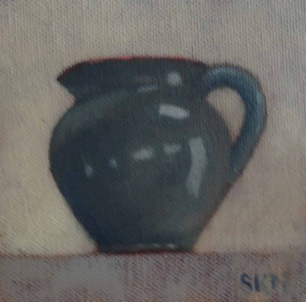 """small pitcher, small picture"" original fine art by Sarah Meredith"