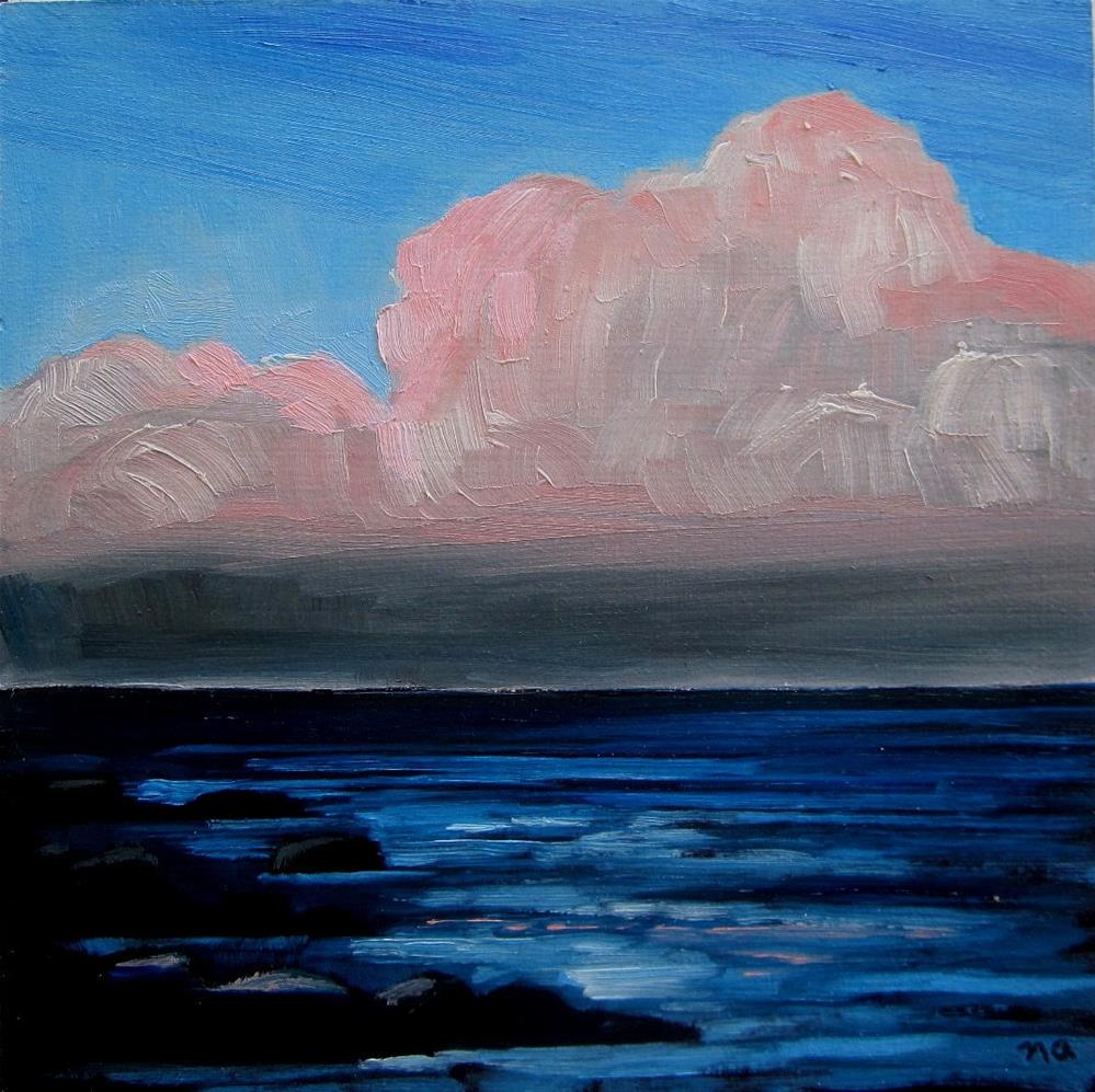 """""""First Evening, Georgian Bay"""" original fine art by Nicki Ault"""