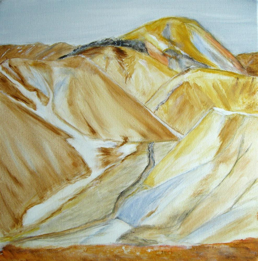 """Colorful Mountains"" original fine art by Alina Frent"