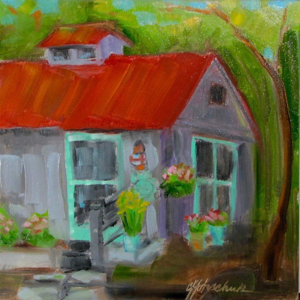 """Guest House"" original fine art by Christine Holzschuh"