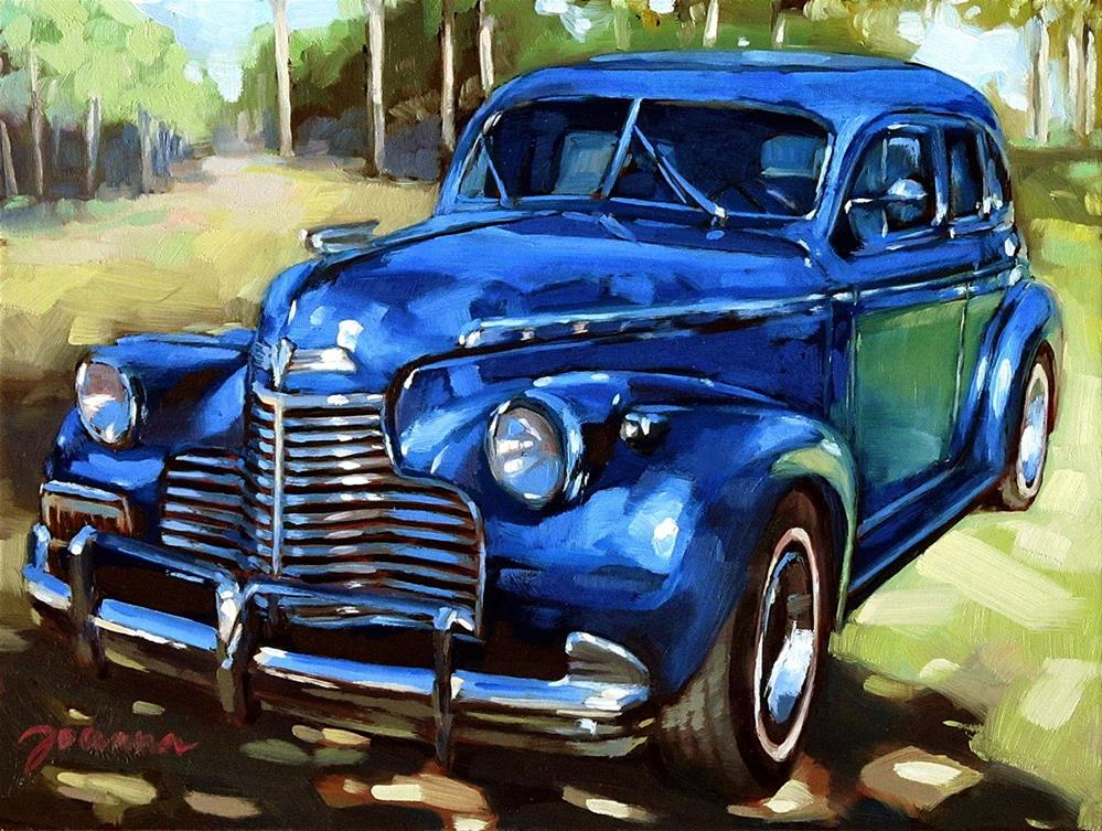 """Blue Chevy-1"" original fine art by Joanna Bingham"