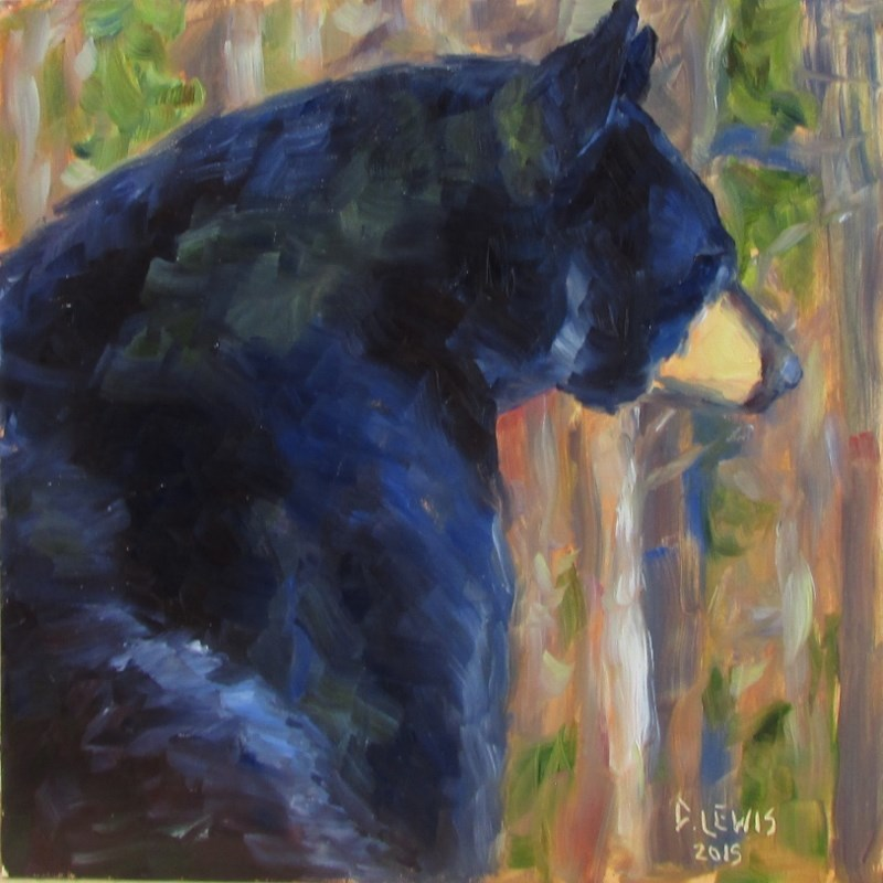 """Bear Contemplations"" original fine art by Christine Lewis"