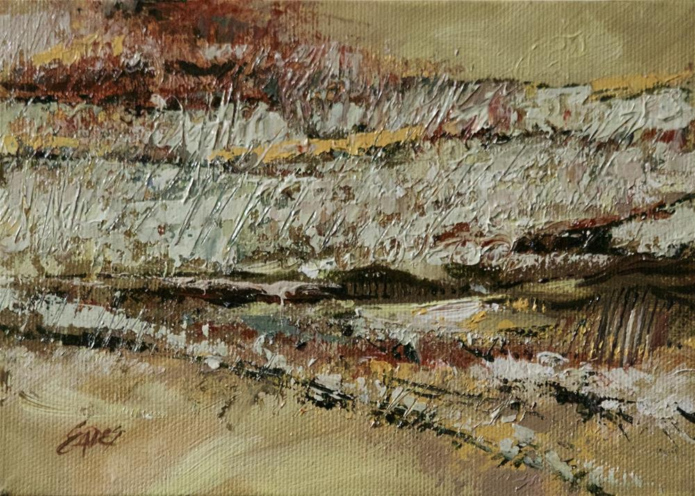 """Fall Fields Abstract"" original fine art by Linda Eades Blackburn"