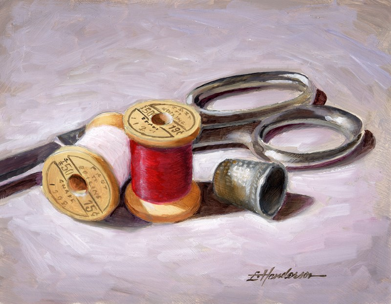 """Mending Time"" original fine art by Lael Henderson"