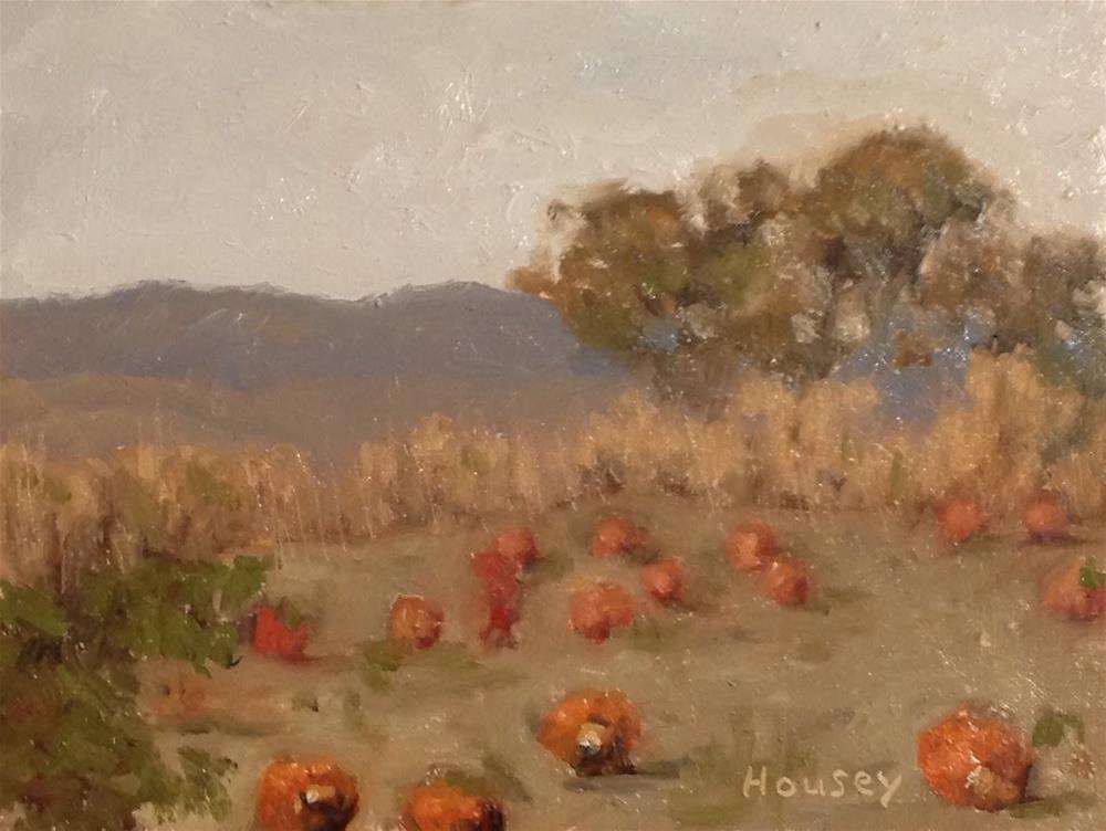 """Pumpkin Patch"" original fine art by Bruce Housey"