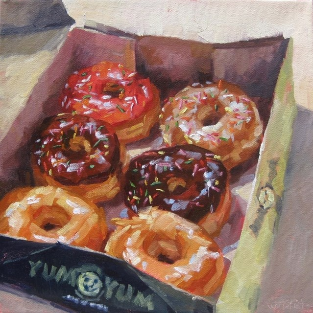 """Yum Yums"" original fine art by Karen Werner"