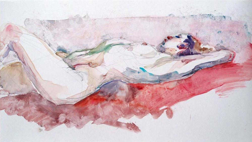 """""""Antiope Resting"""" original fine art by Myriam Kin-Yee"""