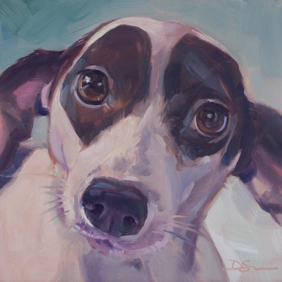 """Eyes of Love No.27 Dottie"" original fine art by Deborah Savo"