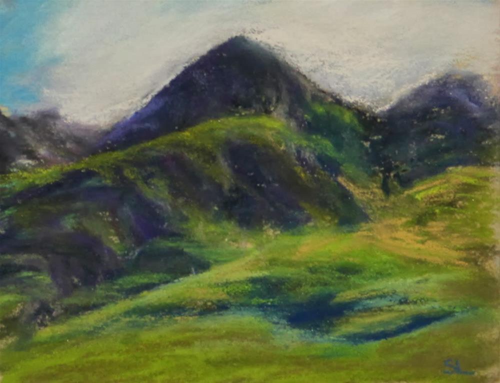 """Mountain Greens"" original fine art by Sharon Lewis"