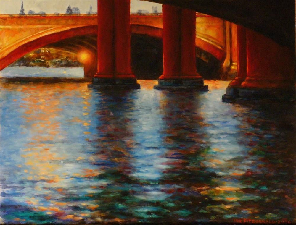 """Blackfriars Bridge II"" original fine art by Joe Fitzgerald"