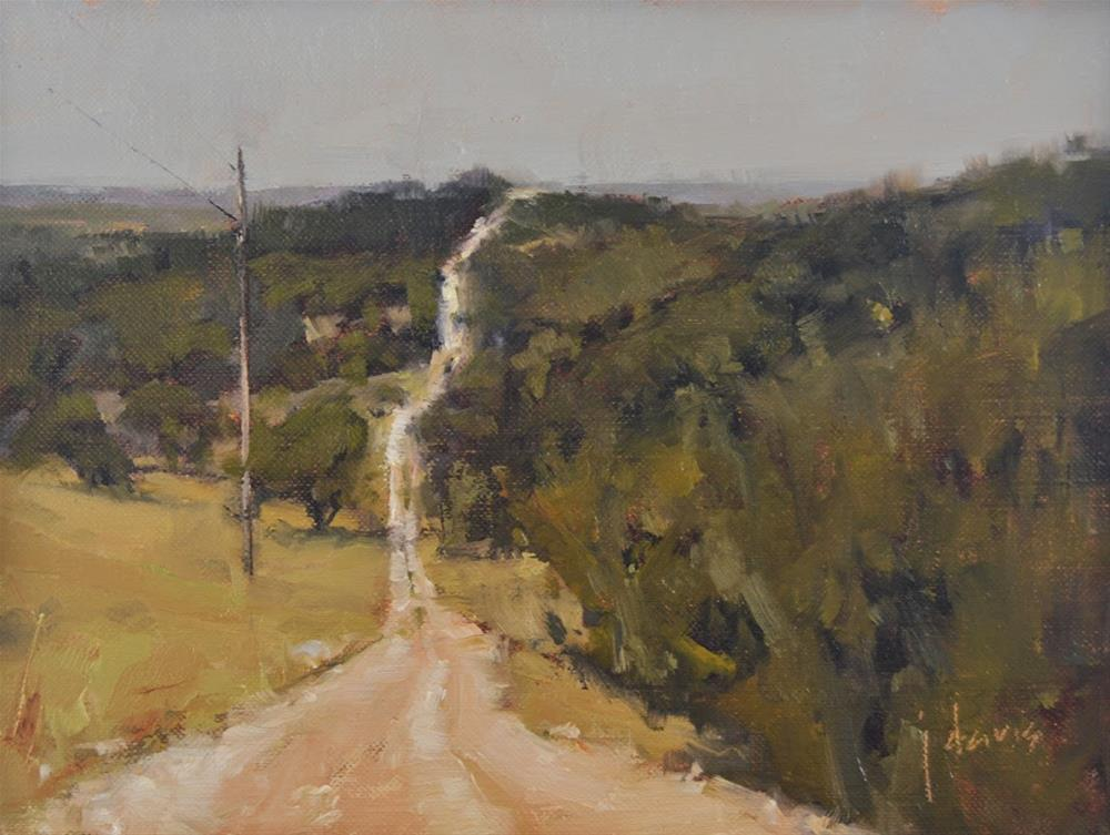 """Long and Winding Road"" original fine art by Julie Davis"