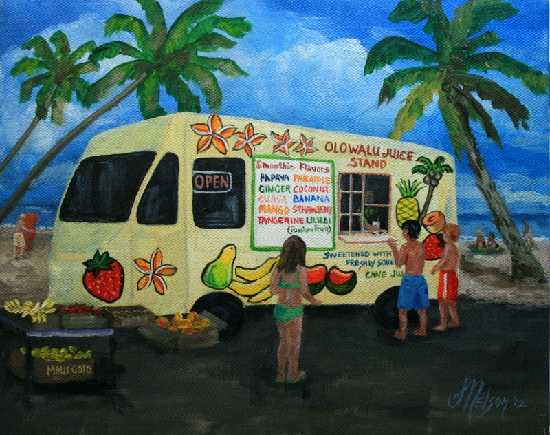 """Mango Strawberry, Please!"" original fine art by Jean Nelson"