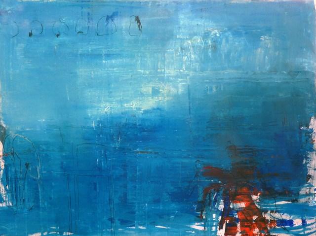 """blau - orange / blue - orange"" original fine art by Mila Plaickner"