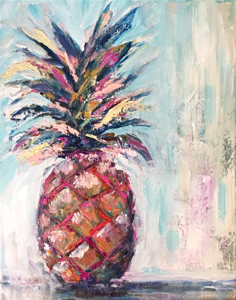 """Pineapple Crush"" original fine art by Melissa Gresham"