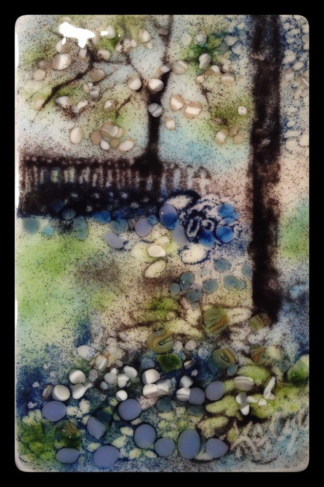 """Hostas and Hydrangeas"" original fine art by Kelly Alge"