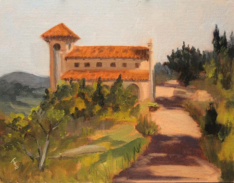 """Chapel Dulcinea"" original fine art by Jane Frederick"