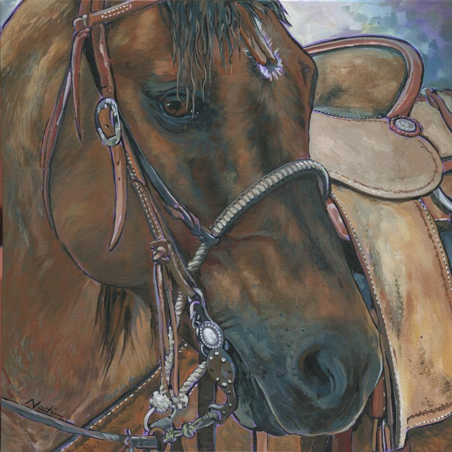 """Roping Head"" original fine art by Nadi Spencer"