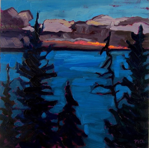"""As Night Falls"" original fine art by Nicki Ault"