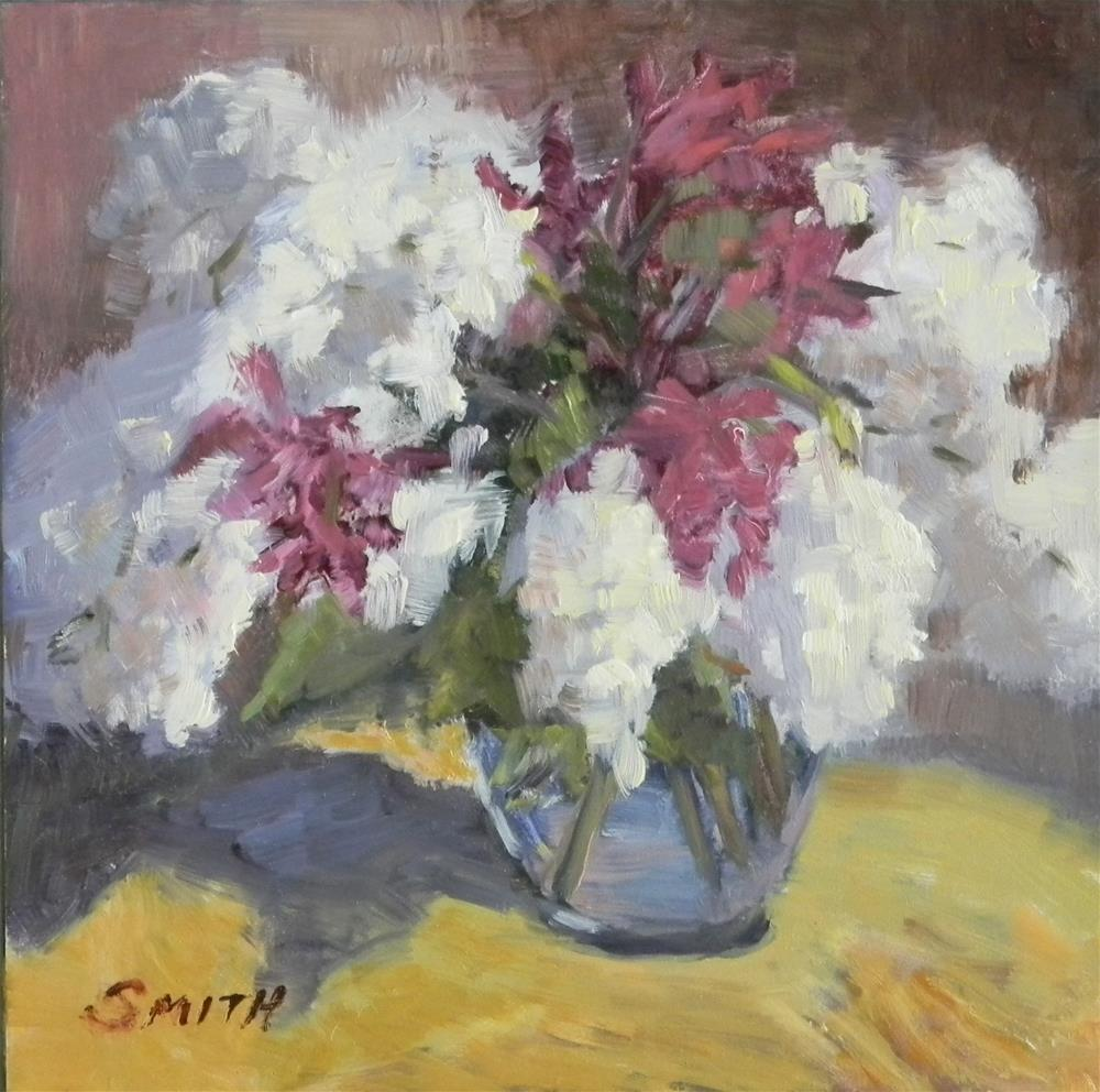 """Lilacs and Orchids"" original fine art by Barbie Smith"